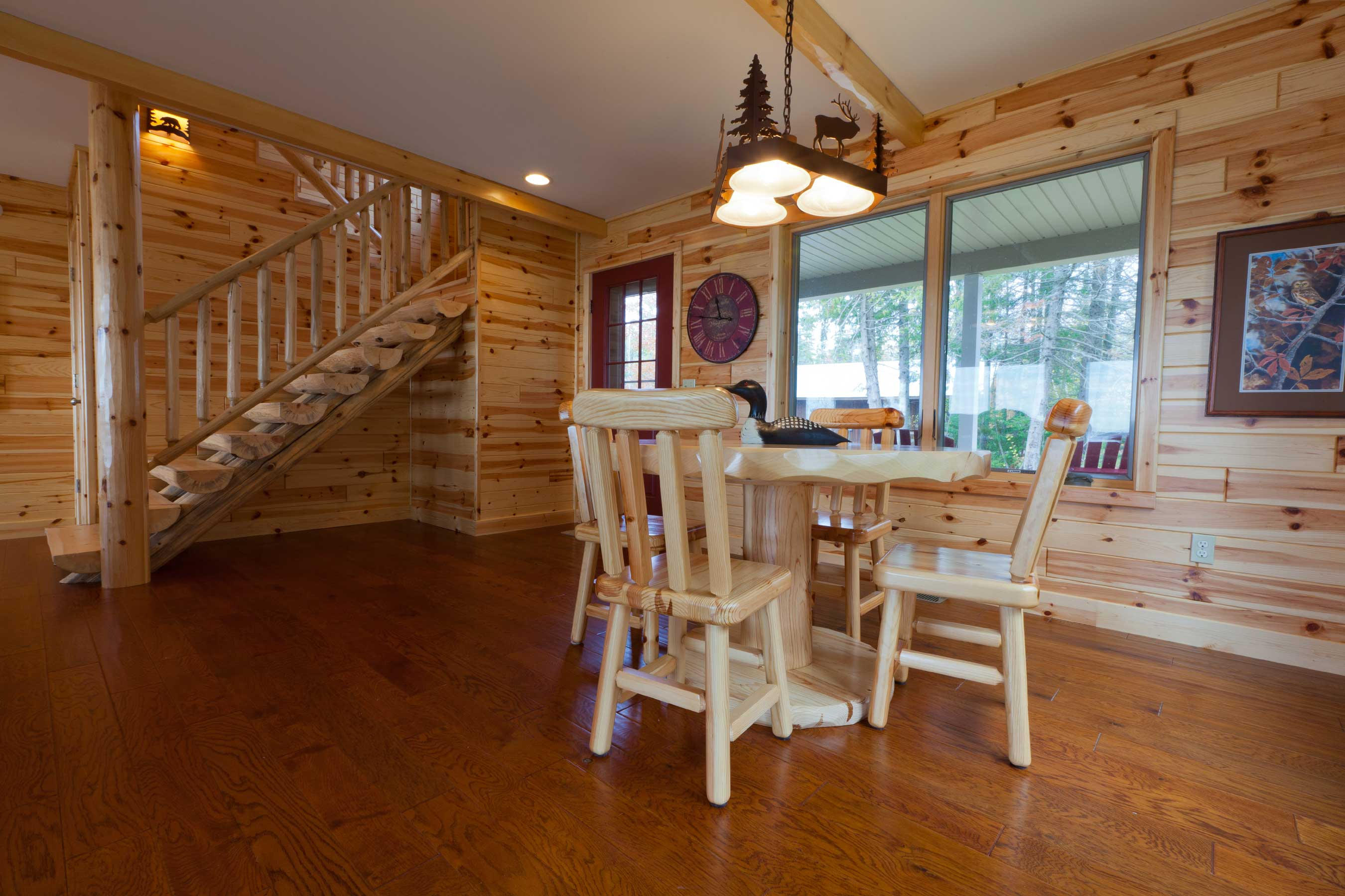 Knotty Pine And Cedar Paneling
