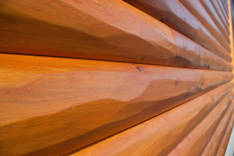 3x8 log siding hand hewn pine - 3x8 Log Siding Hand Hewn Pine 0